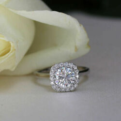 0.68 Ct Round Cut Real Diamond Proposal Ring For Women 18k White Gold Size 5 6 8