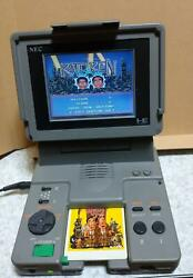 Junk Nec Pc Engine Lt Vintage Console And Ac Adapter Set Working Overhauled Jp