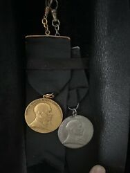 U.s. Steel Service Medals Two Medals One Gold50yrs One Silver35yrs In Fob