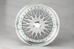 19 Staggered Silver/silv Rs Style Rims Wheels Fits Mercedes Benz 5x112 S Class
