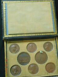 10-medal Wood Boxed Set Of Rare Napoleon Medals By Andrieu 1800and039s