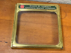 Vintage Nabisco Display Lid For Wood Box General Store Cracker Box Glass Lid