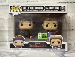 Funko Pop Wandavision Billy And Tommy Halloween Eccc Exclusive Con Sticker