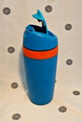 New Tupperware Commuter Mug 360ml Blue Insulated Coffee Cup Tea Hot Cold
