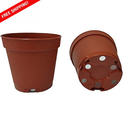 2IN Plastic Nursery Pots 2 Inch Round At The Top amp;1.9IN Deep Color Terracotta