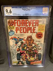 Forever People 1 Cgc 9.6 White Pages Dc 1971 1st App Darkseid Superman Kirby
