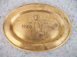 Rare Antique Door Man Hotel Butlers Check Out Brass Tray