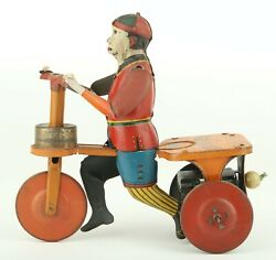 Behrend And Rothschild Tin Litho Windup Kid Special Scooter Toy
