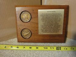 Vintage Trans-alaskan Oil Pipeline The First Barrel, Pacific Mint Coin Plaque.