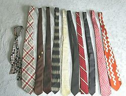 Vintage Menand039s Neckties Lot Of 11
