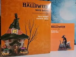 Dept 56 Three Witches Cauldron Haunt And Accessory Nib Witch Hollow