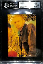 Layne Staley Signed Autographed Alice In Chains 4x6 Photo Jsa And Beckett Slabbed
