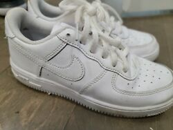 Nike Air Force 1 Low Triple White Kids GS Youth Casual Sneaker Size 2Y 2 Youth