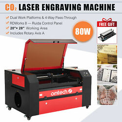 Omtech 80w 20 X 28 Inch Co2 Laser Engraver Cutter Marker With Rotary Axis A