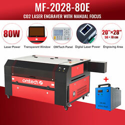 Omtech 80w 20 X 28 Inch Co2 Laser Engraver Cutter Marker With 9l Water Chiller