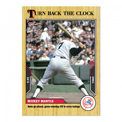 🛑 MICKEY MANTLE 2021 TOPPS NOW TURN BACK THE CLOCK #177 NEW YORK YANKEES 🔥