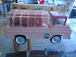 Rare Vintage Ford Econoline Nylint Kennels Truck No 6200 Pressed Steel Toy Pink