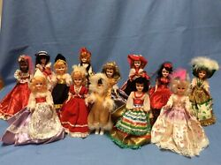 Vintage Arco Dolls Of The World, Lot Of 13, 1970's, Plastic Ethnic