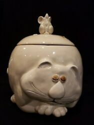 Rare Fitz And Floyd 'fat Cat' Cookie Jar Xlvtg 1977 Retired Nwt Mint Condition