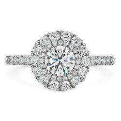 950 Platinum Round 1.00 Carat Real Diamond Engagement Rings For Her Size 6 7 8 9