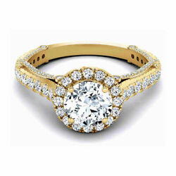 Round 1.30 Carat New Real Diamond Engagement Rings 14k Yellow Gold Size 5 6 7 8