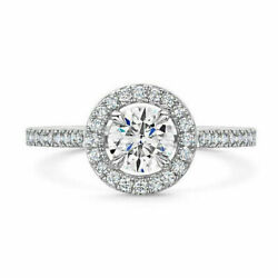 0.85 Carat Round Real Diamond Engagement Solid 950 Platinum Rings Size 5.5 6 7 8