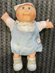 Vintage Cabbage Patch Kid Newborn Baby Doll Coleco 1978 1982 Green Eyes