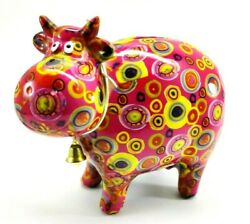 Pomme-pidou Coin Bank Bella The Cow Pink Circles Pattern