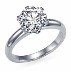 Real 1 Carat Diamond Ring 18k White Gold Solitaire I2 E Msrp 7,850 68353279