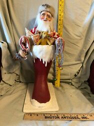Bethany Lowe Christmas Santa Claus In Boot