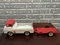Vintage Nylint Ford No. 5900 Raceteam Truck With Trailer 1960s