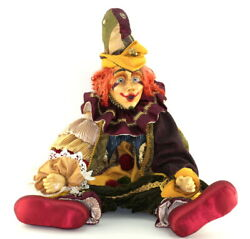 Retired Katherine's Collection Wayne Kleski Antique Clown Jointed Doll 24