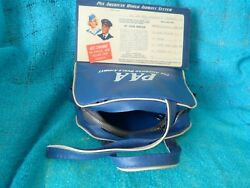 Pan Am Mini Flight Bag With Ticket Jacket And Baggage Label 1950s Vintage