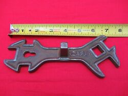 Vtg Antique Ji Case Plow Co. 76-l Wrench Tractor Implement Multi Open End Tool