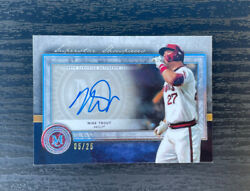 Mike Trout Auto /25 - 2020 Topps Museum Collection Baseball Superstar Showpieces