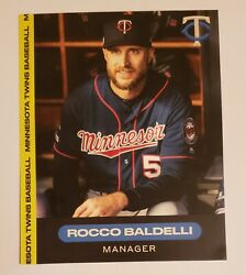 Rocco Baldelli 2020 Minnesota Twins Photo/card Nm/mt Only Have This One