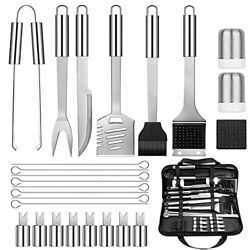 Garelf 26pcs Bbq Grill Accessories Tools Set, Premium Stainless Steel Barbecue G