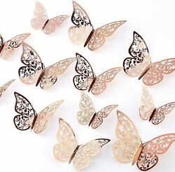 Butterfly Wall Stickers 24pcs 3d 3 Sizes Butterfly Wall Decals Room Wall