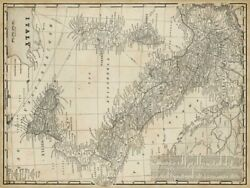 Art-print-antique-map-of-italy-vision-52x39in-horizontal-image-on-paper-canvas-