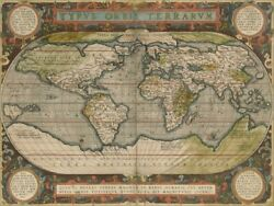 Art-print-antique-world-map-36x48-vision-57x42in-horizontal-image-on-paper-canv