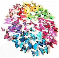 Butterfly Wall Stickers 72 Pcs 6 Packs Beautiful 3d Butterfly Wall Decals