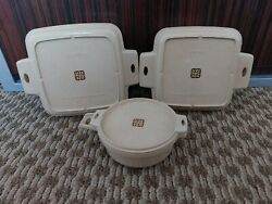 Vtg Littonware 6 Pc Casserole Dishes And Lids Microwavable Conventional Convection