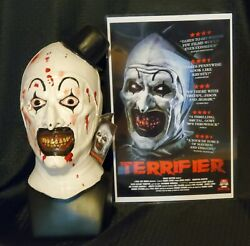 The Terrifier Art the Clown Bloody Edition Trick or Treat Studios Latex Mask