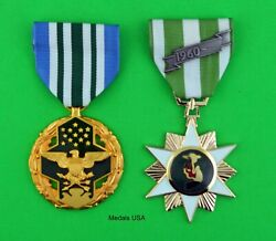 Joint Service Commendation Medal And Vietnam Campaign Medal -full Size U.s. Made