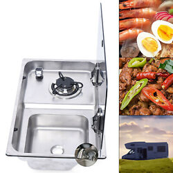 Rv Gas Stove Tempered Glass 1 Burner Gas Stove With Sink And Faucet Combo Gr-903