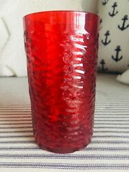 Pizza Hut Plastic Glass Collectible Ruby Red Restaurant Cup