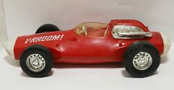 Vintage Mattel Vrroom Guide Whip Racer Race Car Red 1963 Toy For Parts Repair