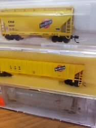 Intermountain Atlas Precision Masters Set Of 3 Cnw Covered Hoppers Rare Oop Up