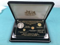 1993 Official Hawaiian Sovereign First Gold And Silver Proof Set Rare