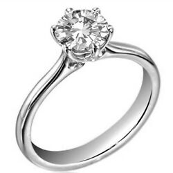 18ct Gold Diamond Ring 1.25 Carat Solitaire Certified Engagement Uk Hallmarked